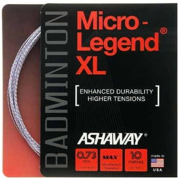 ASHAWAY MicroLegend XL 0.73 (white with blue/red) 10m Set