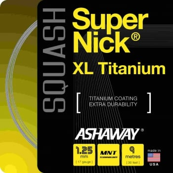 ASHAWAY SuperNick XL Titanium (1.25mm) Squash String 9m Set