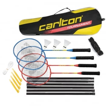 CARLTON Tournament 4 Players Badminton Racket Set