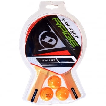 BUY Dunlop Rage Match Two Player Table Tennis Bat Set