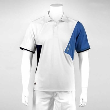 KARAKAL Badminton Dijon Button Polo White