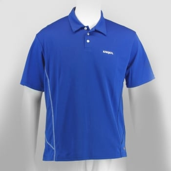 KARAKAL Badminton Leon Button Polo Blue