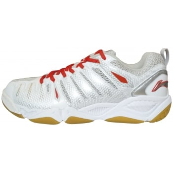 LI-NING Extreme II Mens Court Shoes (White/Red)