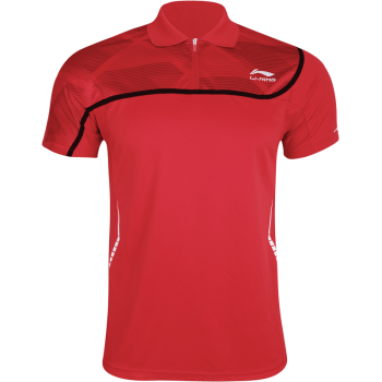 LI-NING Mens Polo Shirt Red
