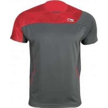 LI-NING Mens T-Shirt Grey