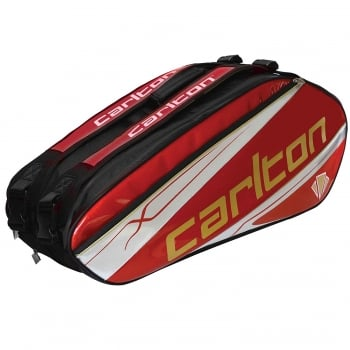 CARLTON NEW Carlton - Kinesis Tour 3 Compartment Bag RED - Badminton Bag