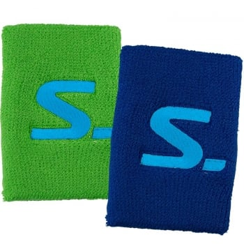 SALMING Wristband Short 2pk Pur/Yel