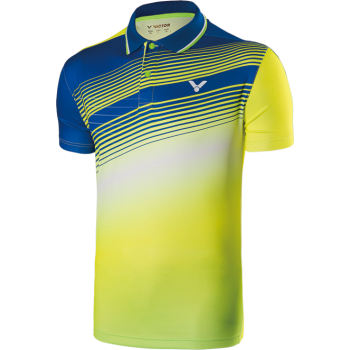VICTOR - 2017 Malaysia Team Wear - Unisex POLO - Yellow 6307 - Badminton Clothing