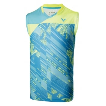 VICTOR 2017 Sleeveless T-shirt T-70001M - Unisex Badminton Tee with Perfect Dry Technology