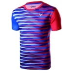 Victor Badminton T-shirt: 2017 World Championships South Korean Men Badminton Jersey,Victor T-75002 RED