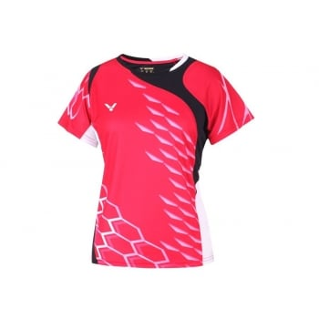 VICTOR - Female Malaysian Team Red T-Shirt 6186 Size XS - Badminton Apparel