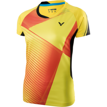 VICTOR Malaysia Team Female Shirt - Yellow 6357 - Perfect Dry Badminton Clothing
