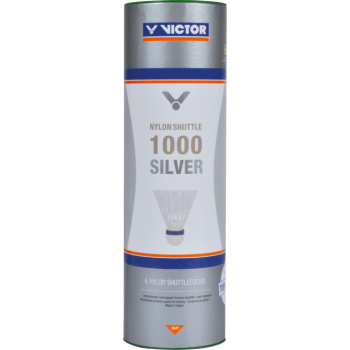 VICTOR - Nylonshuttle 1000 Silver - White (3 pcs tube)