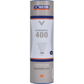 VICTOR - Nylonshuttle 400 Steel - White