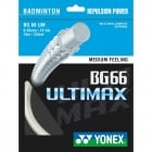YONEX BG66 Ultimax - Badminton Strings (White. Yellow. Orange, Light-Green)