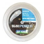 YONEX BG80 POWER BADMINTON STRING - 200M REEL - WHITE